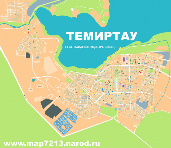Карта города Темиртау